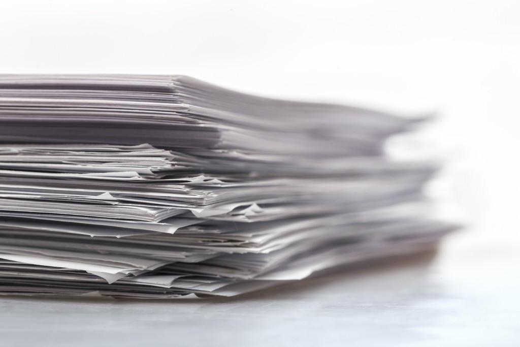 reduce paper piles